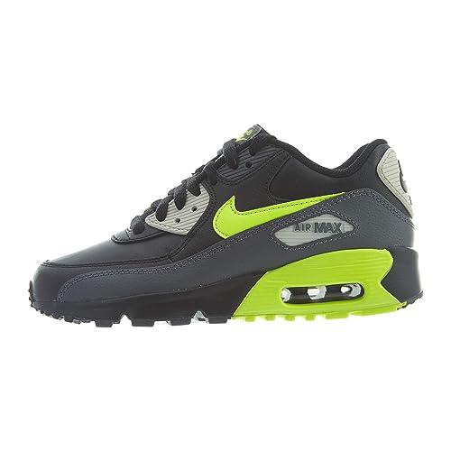 Nike Air MAX 90 LTR (GS) Big Kids 833412 023, Dark GreyVolt