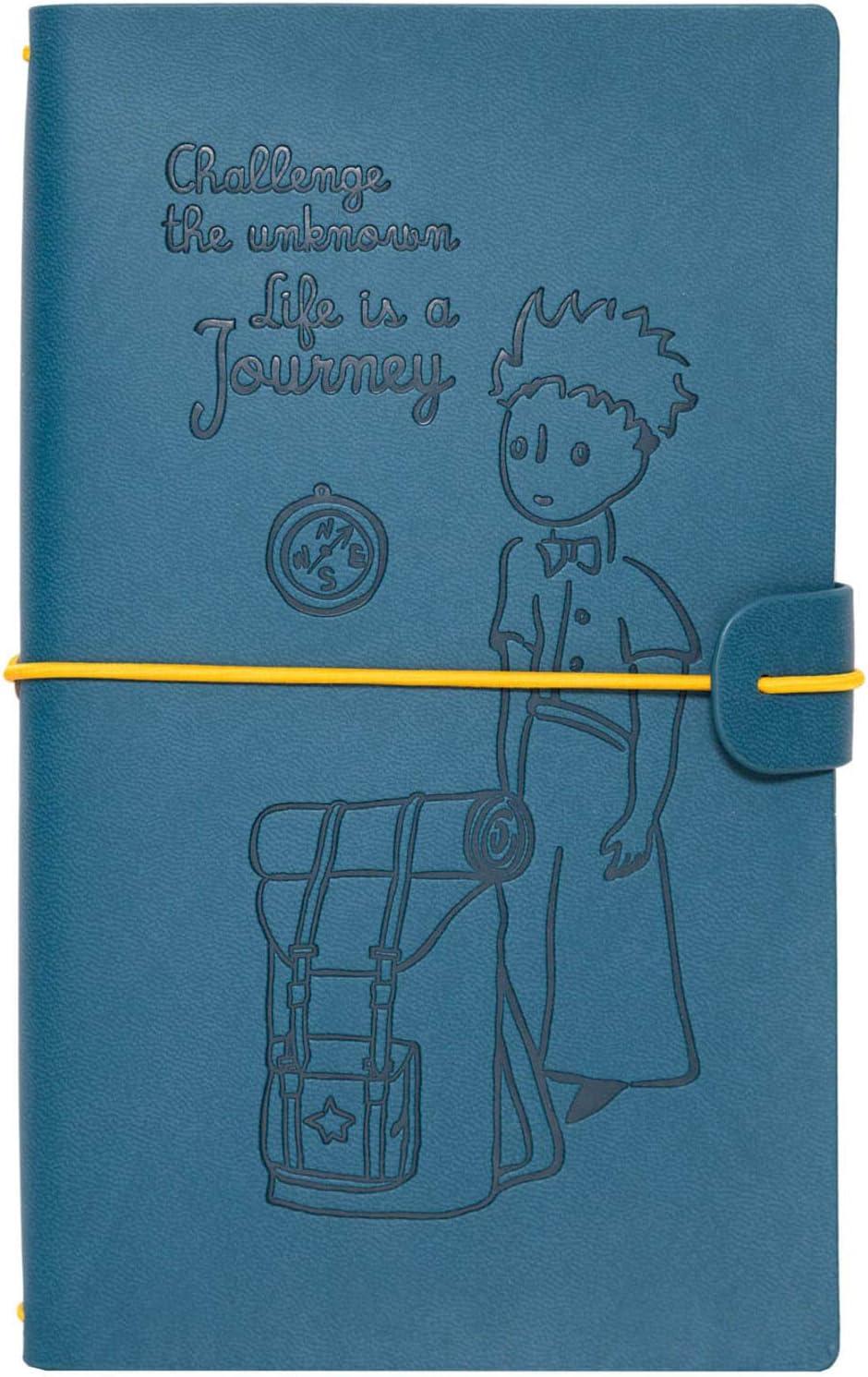 Grupo Erik - Cuaderno de viaje, Cuaderno de notas de cuero El Principito, 12x19,6x1,7 cm (CTBV002)