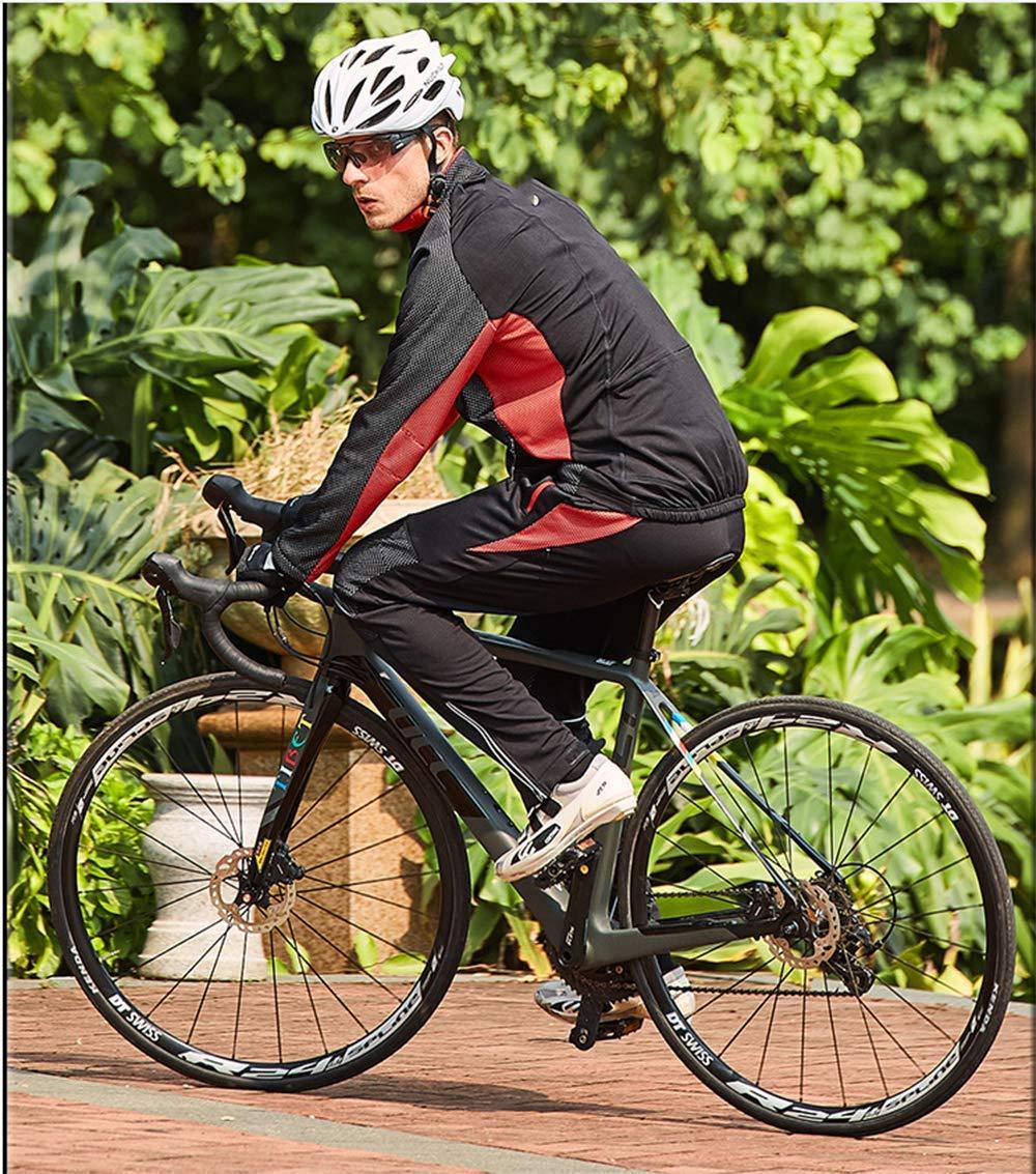Autumnwinter Jersey Suit Bicycle Warm Riding Jacket Hand Fleece Riding Trousers,XXXL