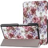 DETUOSI Custodia per Lenovo Tab 4 8 (TB-8504F/TB-8504X) 2017 Tablet, Cover in Pelle PU Case Custodia con Supporto