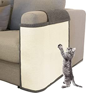 Cat Scratch Furniture Couch Protector with Natural Sisal for Protecting Couch Sofa Chair (Left Hand)