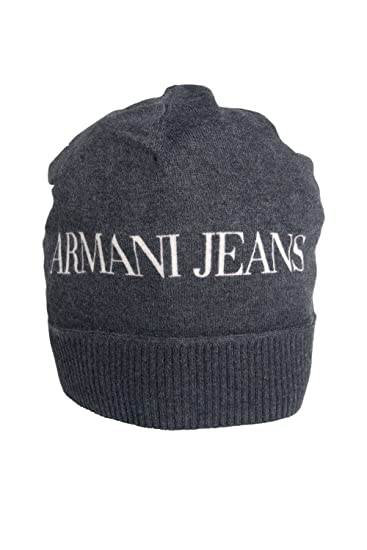 Armani Jeans Beanie Hat in Black and Navy Blue U6411C2 12-Black M ... 610786a10d4