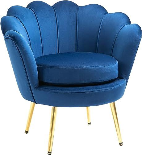 HOMCOM Elegant Velvet Fabric Accent Chair/Leisure Club Chair - a good cheap living room chair