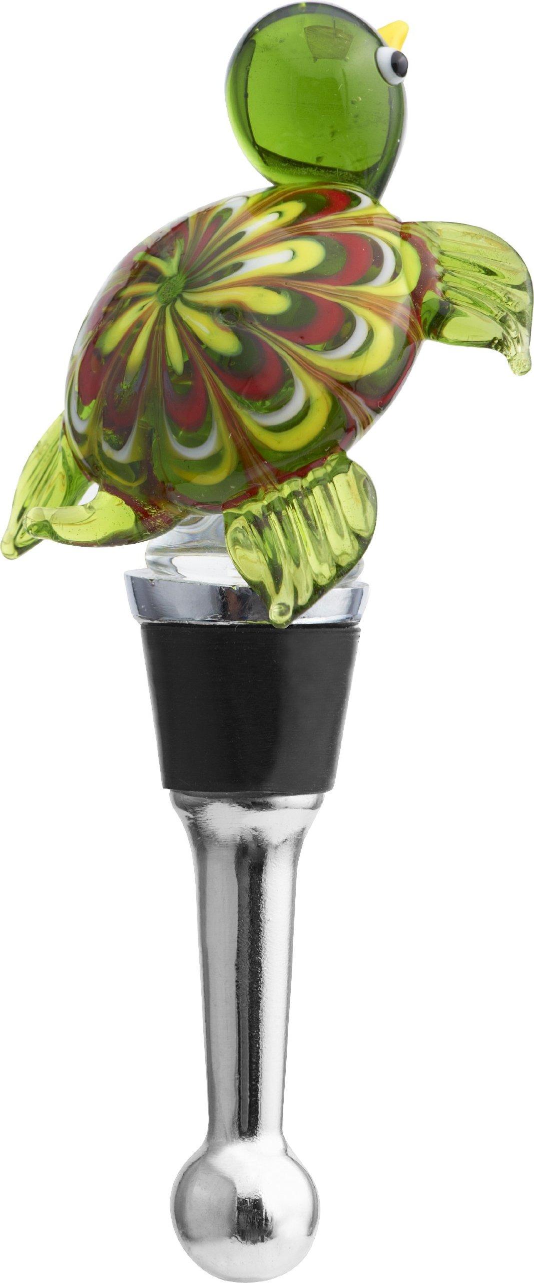 LSArts Wine Bottle Stopper, Venetian Turtle