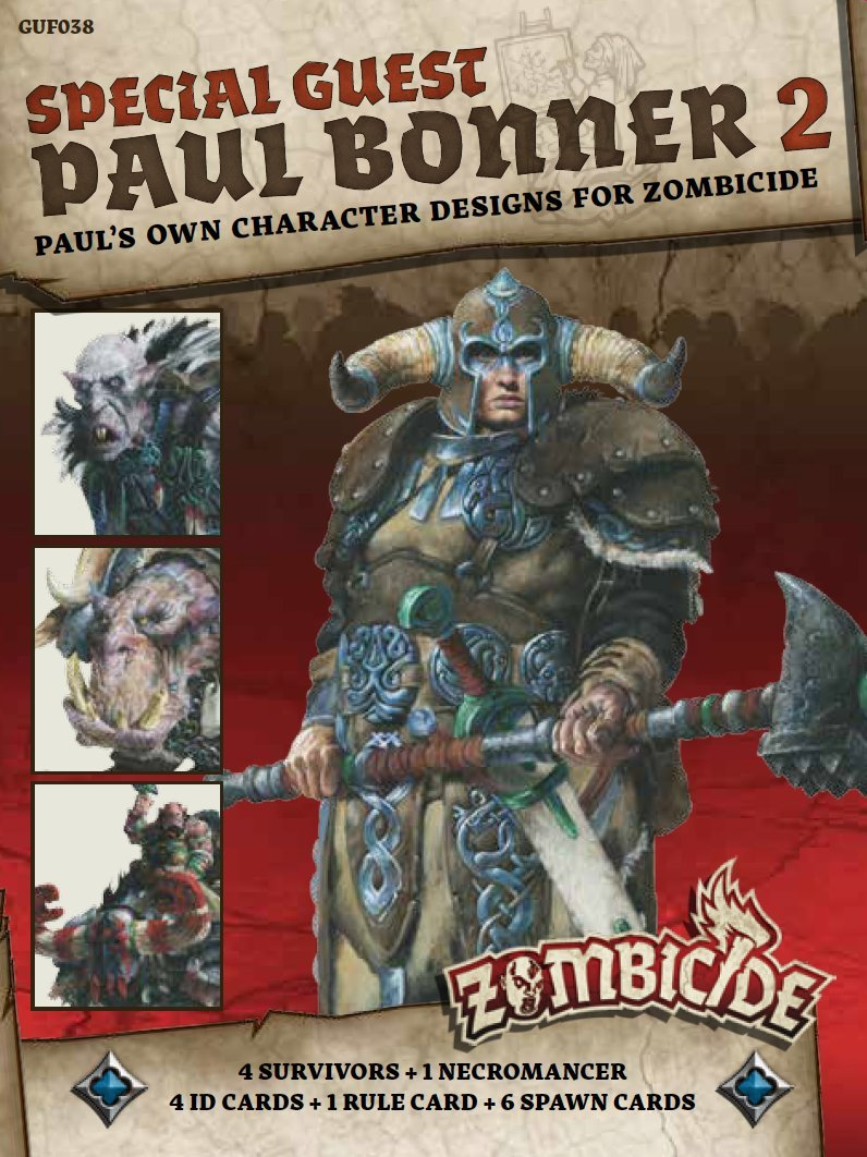 Paul Bonner 2 2 Special Guest Artist Game GUF038 CMON Zombicide Green Horde