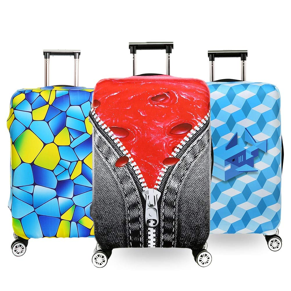 Luggage Cover - Suitcase Covers - Luggage Skins Cover Fashion Luggage cover Suitcase Protective Cover For 18-32inch, Elastic Trolley case Dust Cover Travels Baggage cover by AloPW
