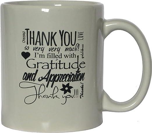 Amazon.com: Thank You Ceramic Coffee Mug - Cream, 11 Ounces ...
