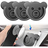 Car Grips Mount for Phone Stand Cute Bear Style Silicone Phone Holder with Phone line Clasp for Collapsible Grip/Socket Mount User Used on Dashboard