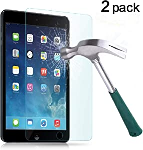 "TANTEK l207 Anti-Scratch, Anti-Glare, Anti-Fingerprint and Bubble-Free Tempered Glass Screen Protector for 7.9"" IPad Mini 1/2/3 - Clear - 2 Piece"