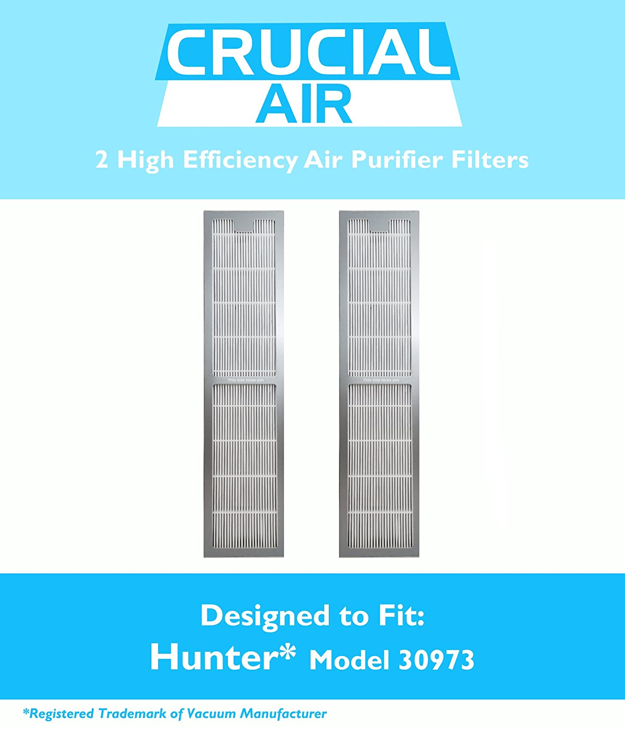 amazon com 2 hunter 30973 air purifier filters fit 30890 30895 rh amazon com Hunter Ceiling Fan Wiring Schematic Hunter Ceiling Fan Wiring Schematic