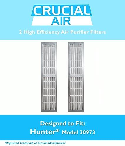 amazon com 2 hunter 30973 air purifier filters fit 30890 30895 rh amazon com Hunter Fan Remote Receiver Wiring Diagram Hunter Thermostat Wiring Diagram
