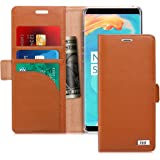 FYY [Genuine Leather] Wallet Case for Samsung Galaxy Note 8 2017, Handmade Flip Folio Wallet Case with Kickstand Card Slots M