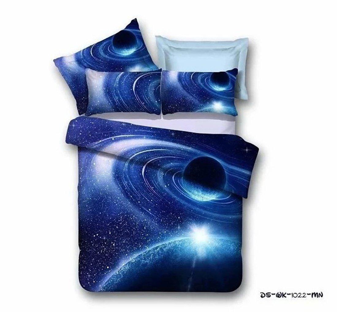 3D Bedruckte Steppdecke Bettbezug Kissenbezüge Spannbetttuch Geheimnisvolle Geheimnisvolle Geheimnisvolle Boundless Galaxy rot Sky Starry Night Betten Sets, Style 11, 3PCS 160-210cm B07877HZ8X Bettbezüge 36059a