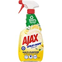 Ajax Spray n' Wipe MultiPurpose Antibacterial Disinfectant Cleaner Trigger Surface Spray Lemon Citrus Made in Australia…