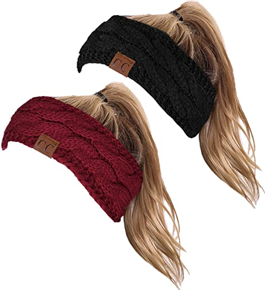 7b7b56b647e HW-6033-2-20a-0664 Headwrap Bundle - Black   Burgundy (2 Pack) at ...