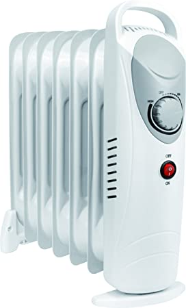 Daewoo Blanco 800 W Calefacción Eléctrica Radiador (800W Vatios, 3 Niveles de Calor, Termostato): Amazon.es: Hogar