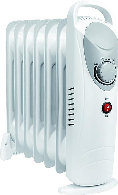 Daewoo Blanco 800 W Calefacción Eléctrica Radiador (800W Vatios, 3 Niveles de Calor,