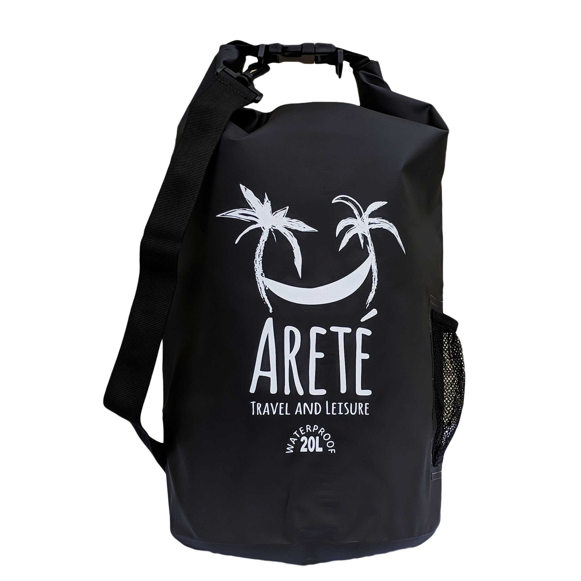 Arete Travel and Leisure Waterproof Dry Bag (20L) - Guaranteed to Keep Valuables Safe and Dry with Stiffening Blade/Edge Sealing Technology - Includes Water Bottle/Beverage Pouch by Areté Travel and Leisure