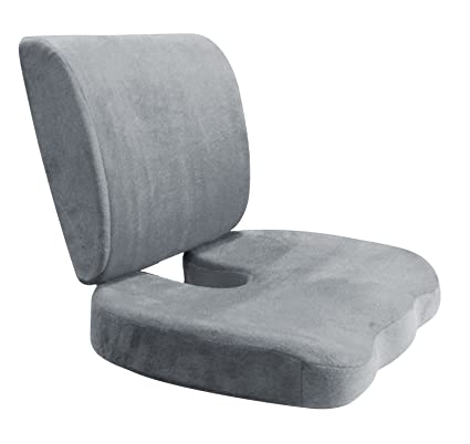 Seat Back Cushion Set   Seat Lumbar Support Pain Relief Pillow   Memory  Foam Chair Pad