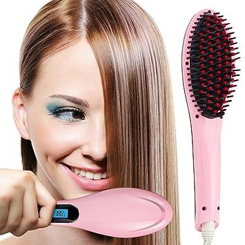 Cepillo Alisador, MaisonKlee Peine Pelo Alisador Plancha Electrónico LCD Digital Cepillo de Pelo Profesional Alisador Pelo Hair Straightener para ...