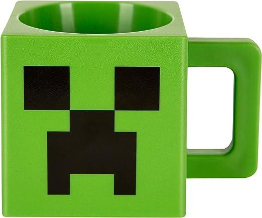 Amazon.com: JINX Minecraft - Taza cuadrada de plástico, 9.8 ...
