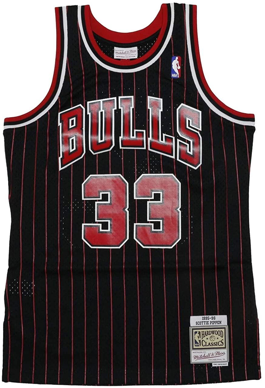 Black Mitchell /& Ness Scottie Pippen Chicago Bulls NBA Throwback Jersey