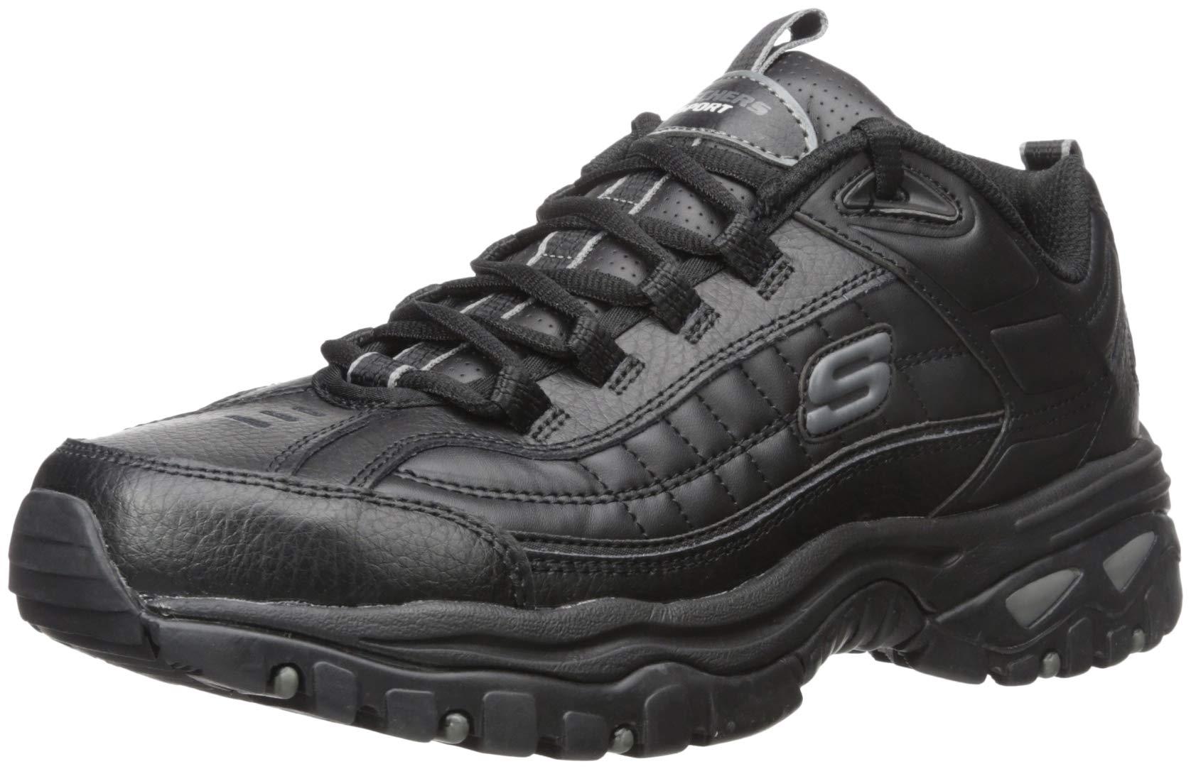 Skechers Men's Energy Afterburn Lace-Up Sneaker,Black,6.5 XW by Skechers