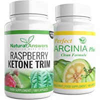 Raspberry Ketone & Garcinia Cambogia | 3 Month Supply | Keto Diet | Weight Loss Fat Burner Duo | Vegetarian Friendly Capsules | Well Known Trusted Brand Natural Answers | UK Manufactured