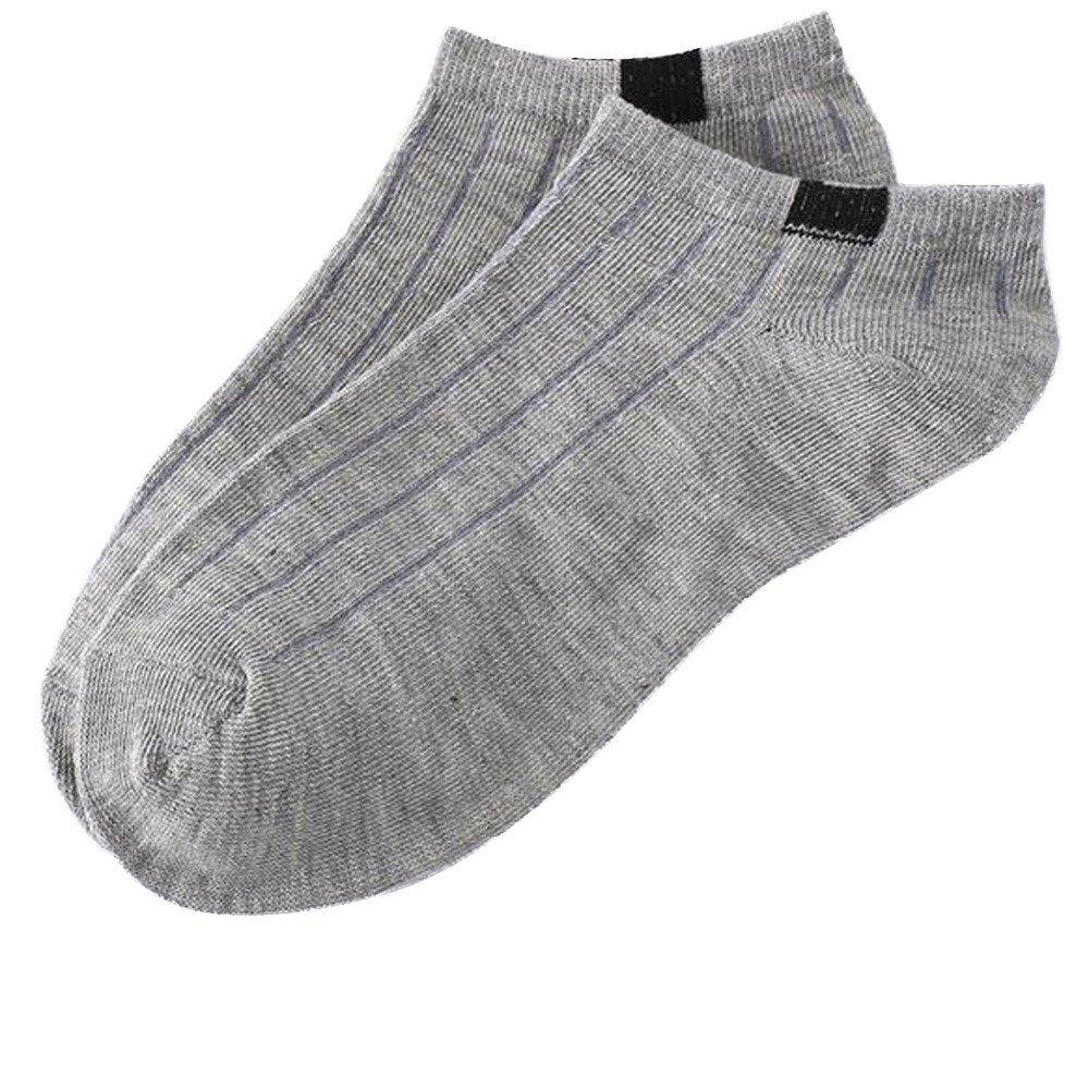 HULKAY Unisex Socks Upgrade Comfortable Stripe Cotton Crew Sock (1 Pairs)(Gray) by HULKAY (Image #1)