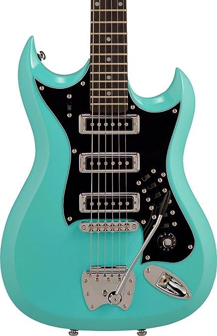 Hagstrom 6 cuerdas cuerpo sólido guitarra eléctrica, 3 tonos ...