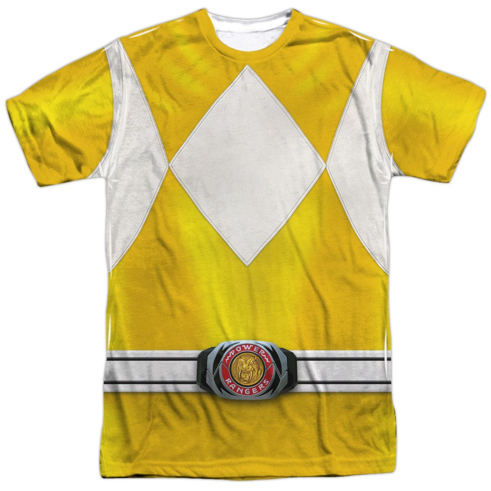 Yellow Ranger Adult All Over Print 100/% Poly T-Shirt Power Rangers