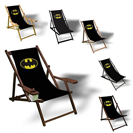 Costruire Una Sedia A Sdraio.Printalio Batman Sedia A Sdraio Bedruckt Balcone Giardino Sedia A