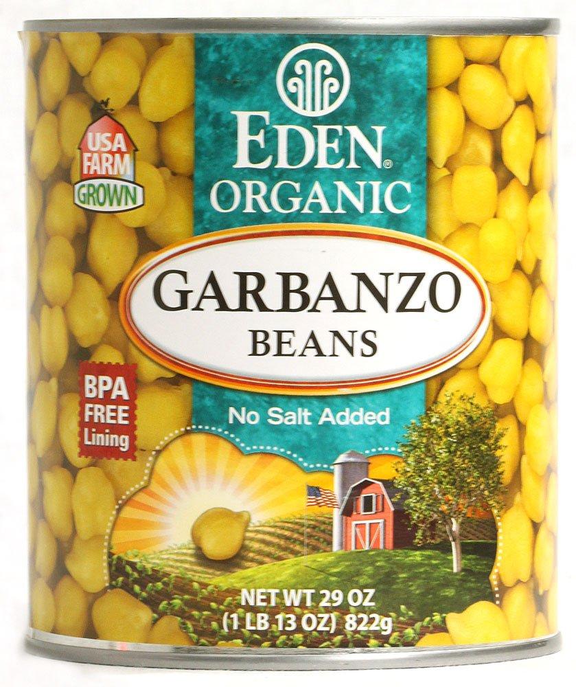 Eden Foods Organic Bean Can, Garbanzo, 29 oz