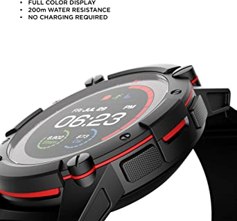 PowerWatch PW07 2, Body Heat Powered Fitness Tracker Smart Watch, 200M Dive, GPS, Calorie and Step Count, iPhone/Samsung Compatible