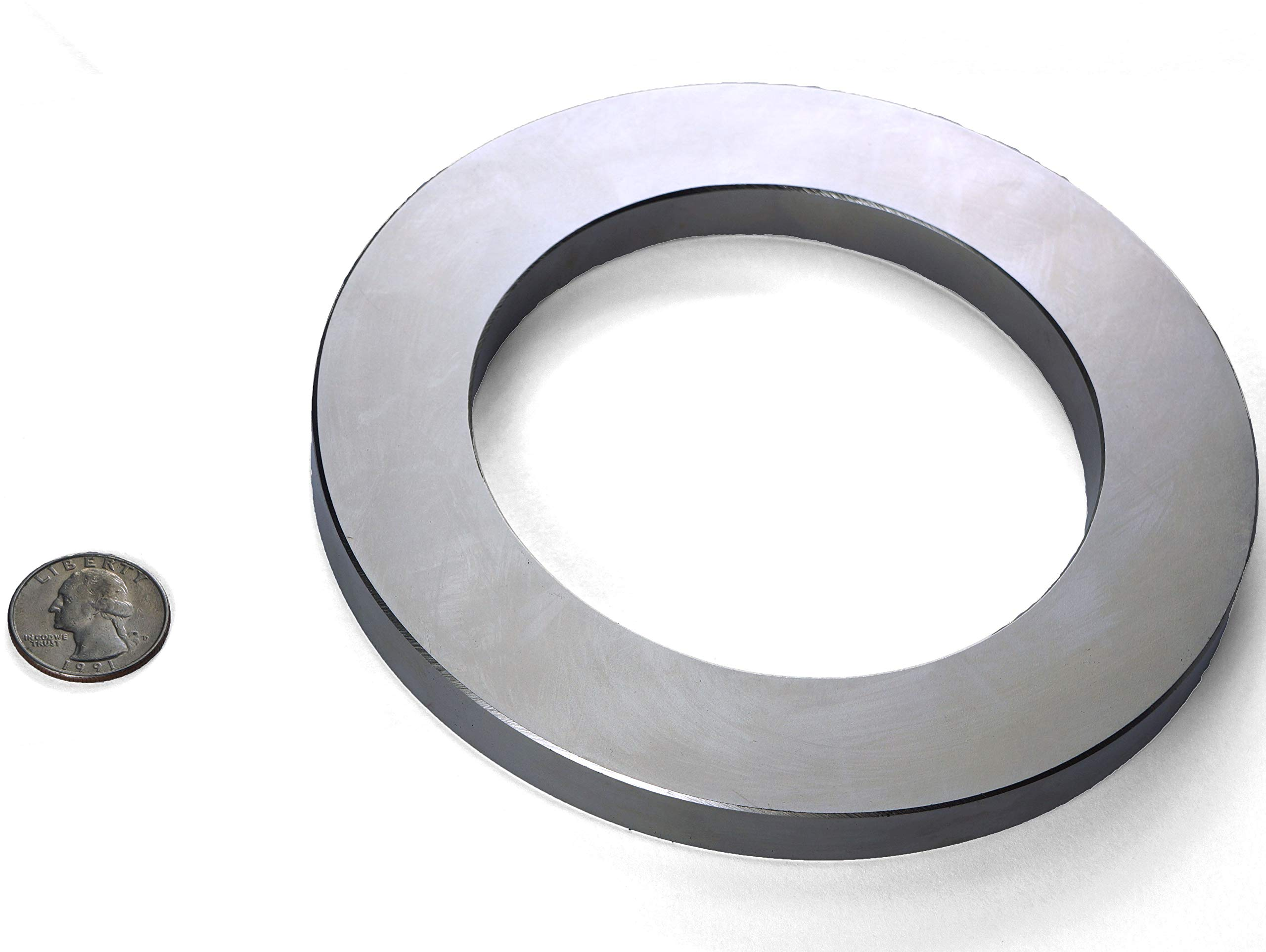 Applied Magnets 1-pc, Grade N42, Strong NdFeB Neodymium Magnet Ring, 6'' OD x 4'' ID x 1/2''.