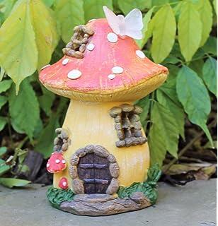HOME HUT® Garden Fairy Mushroom Flower House Solar Decorative Ornament  Secret Gift