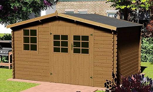 AKELIA GARDEN – Cobertizo de Jardín Iris 14 m² tratado: Amazon.es: Jardín