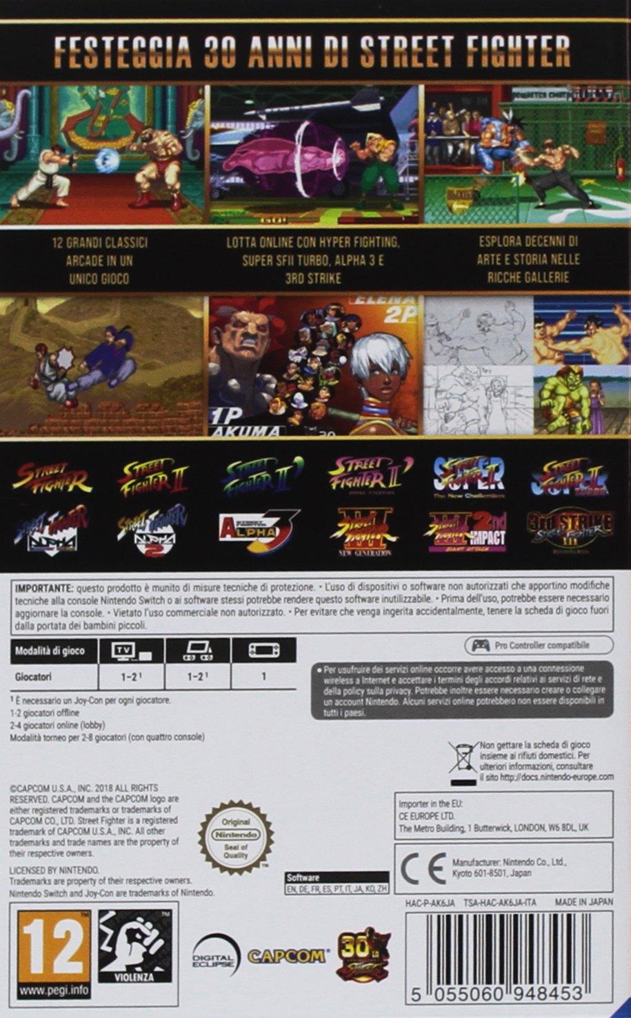 Street Fighter 30 Anniversary Collection - Nintendo Switch [Importación italiana]: Amazon.es: Videojuegos