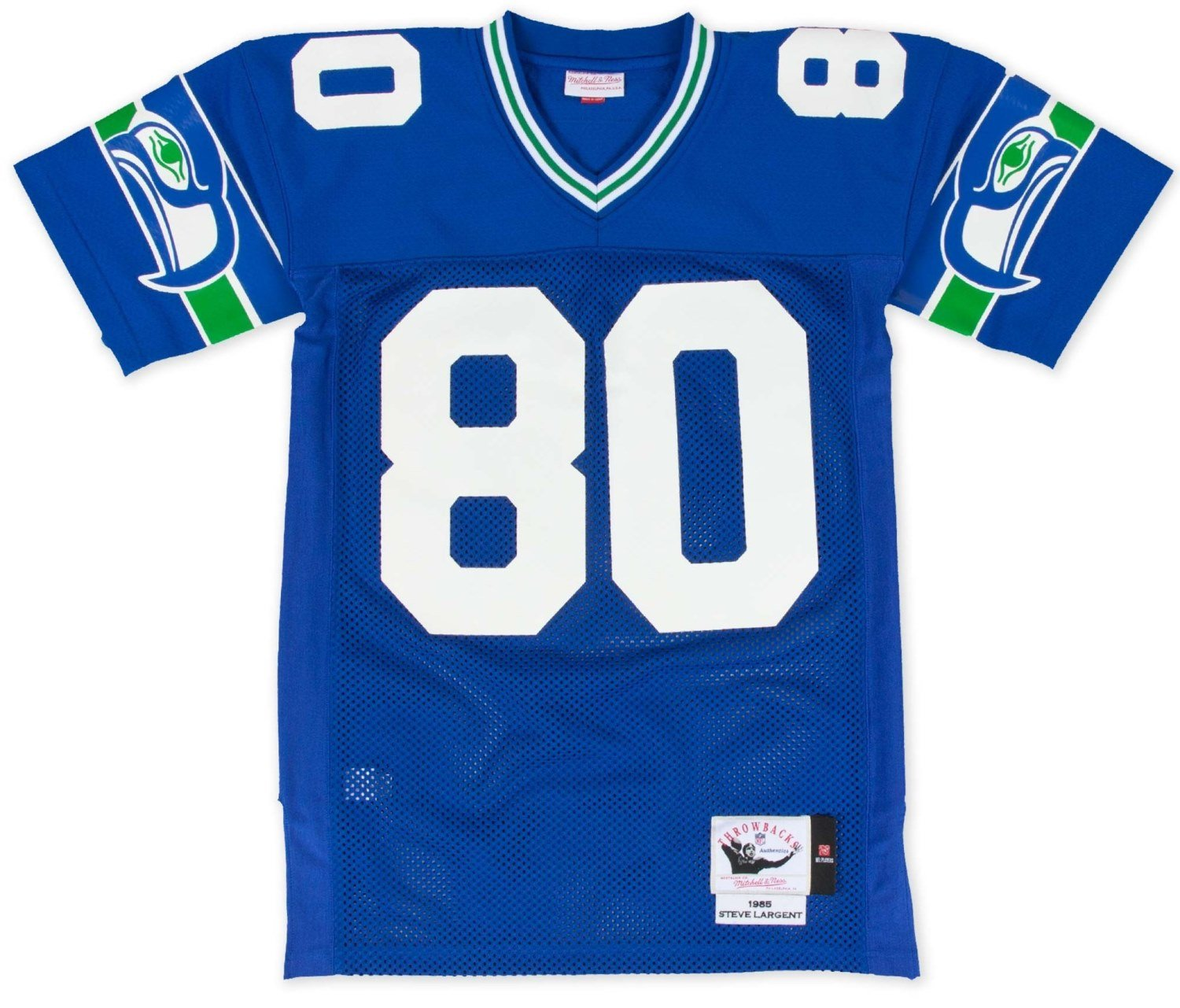 new product b0659 9dde7 Mitchell & Ness Steve Largent Seattle Seahawks Authentic 1985 Blue NFL  Jersey