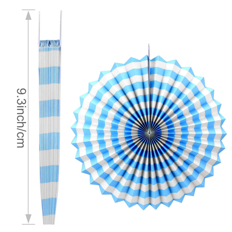 Foonii 22Pièces Happy Birthday Bleu Bannière Tissue Joyeux anniversaire Fête Thème Bleu Boules de Fleur en Papier Lanterne Guirlandes Fanions Kit, Thème Bleu anniversaire Fête