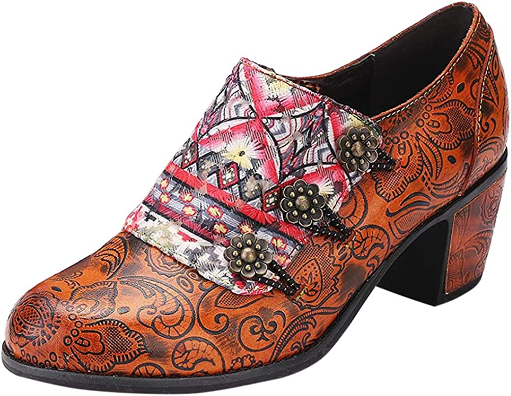 gracosy Ankle Boots for Womens Lace up