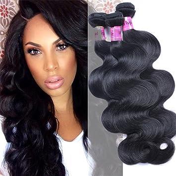 Amazon.com   10 12 14 inch body wave brazilian hair weave 3 Bundles 7A  unprocessed natural color Brazilian Body Wave good quality virgin hair    Beauty ef5d9361ef1e