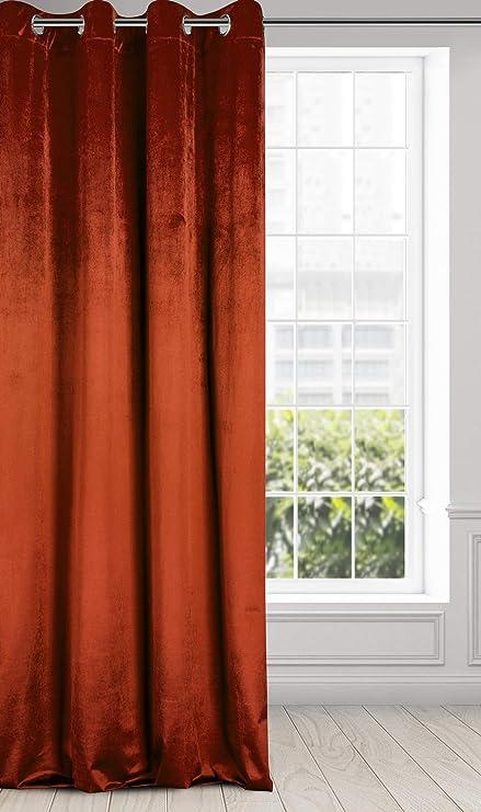 Blasses Rosa INOX Vorh/änge Fertiggardine Velour Samt Velvet Blickdicht Kr/äuselband 135 x 250cm