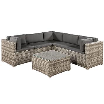 Fabulous Amazon.de: ArtLife Polyrattan Lounge Sitzgruppe Nassau beige-grau MD29