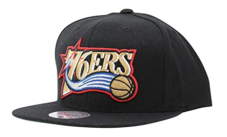new styles c8a47 85d63 Image Unavailable. Image not available for. Color  Mitchell   Ness Philadelphia  76ers Wool Solid HWC Adjustable Snapback Hat