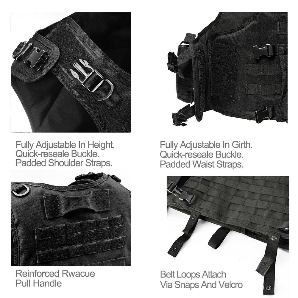 vAv YAKEDA Outdoor CS Game Vest Adjustable Fit Adult 900D Nylon-E88005-1