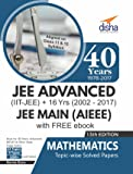 40 Years IIT-JEE Advanced + 16 yrs JEE Main Topic-Wise Solved Paper Mathematics with Free eBook