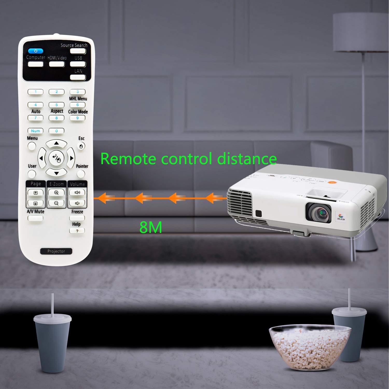 Aimple - Mando a Distancia para proyector EPSON EB-S05 EB-U04 EB ...