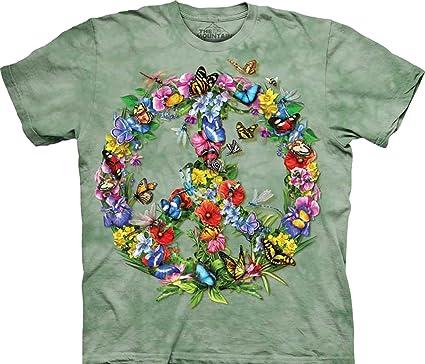 c91de607ea3 Tie Dyed Shop Peace Sign Tie Dye T Shirt- Butterflies and Dragonflies -  Shortsleeve -