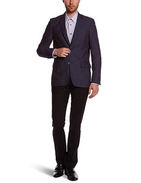 Ollygan Chaqueta para hombre, talla T46 - talla francesa, color azul: Amazon.es: Ropa y accesorios